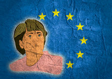 Illustration of a portrait german chancellor angela merkel Royalty Free Stock Image