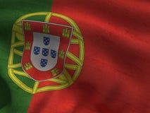 Portugal flag on a fabric basis. Illustration of a Portugal flag on a fabric basis Stock Images