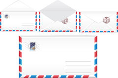 Illustration post envelope. Stock Photography