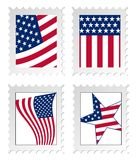 Illustration of post stamps wi Stock Photo