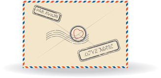 Illustration of postal envelope Stock Image