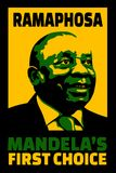 Illustration poster of first choice by Mandela of Ramaphosa to succeed him as head of governing Party. JOHANNESBURG, SOUTH AFRICA - 18 December 2017 stock illustration