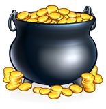 Pot of Gold Coins Stock Image