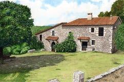 Maison en pierre Image stock