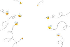 Illustration pour des enfants : Chemin d'abeilles illustration de vecteur
