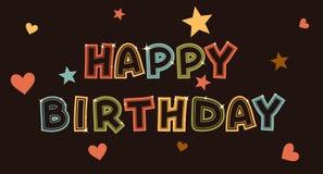 Illustration pour la carte de joyeux anniversaire Image libre de droits