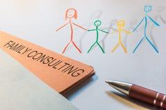 Illustration pour la consultation des familles avec le rendu des enfants 3d illustration libre de droits