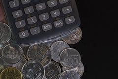Illustration pour le calcul de reçu de paiement à partir de la vue supérieure/du calibre plat de configuration d'isolement dans l Images stock