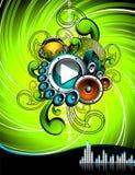 Illustration pour un thème musical Image libre de droits