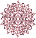 Illustration pourpre de mandala de vecteur Images stock