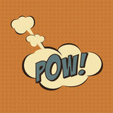Illustration of a Pow in comic stile, on cloud Stock Photography