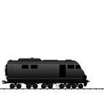 Illustration powered locomotive railroad train Stock Images