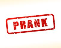 Prank text buffered. Illustration of prank text buffered on white background Royalty Free Stock Images