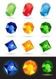 Illustration of precious stones Stock Photos