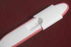 Illustration for Pregnancy (Negative). Red background Stock Image
