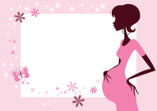 Pregnant woman in pink  Royalty Free Stock Photo