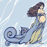 Illustration of Pregnant woman's silhouette Stock Photos