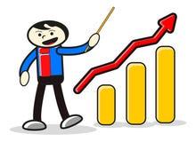Illustration of presentation businessman Royalty Free Stock Photo