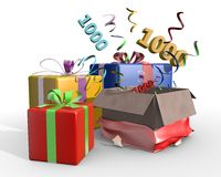 An illustration of presents with 1000 Stock Images
