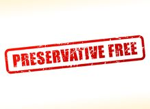 Preservative free text buffered Royalty Free Stock Photos