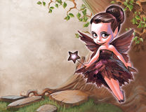 Illustration of a pretty fairy Stock Images