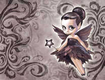 Illustration of a pretty fairy Royalty Free Stock Images