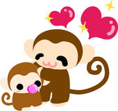 The illustration of pretty monkey Royalty Free Stock Photo