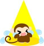The illustration of pretty monkey Royalty Free Stock Photography