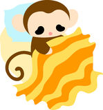 The illustration of pretty monkey Royalty Free Stock Photography