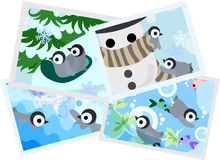 The illustration of pretty penguin baby Stock Images