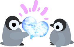 The illustration of pretty penguin baby Royalty Free Stock Image