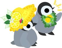 The illustration of pretty penguin baby Stock Image