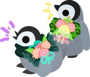 The illustration of pretty penguin baby Royalty Free Stock Images