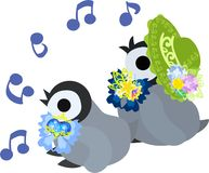 The illustration of pretty penguin baby Royalty Free Stock Photo