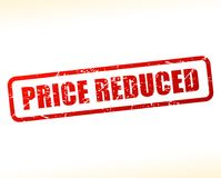 Price reduced text buffered. Illustration of price reduced text buffered on white background stock illustration