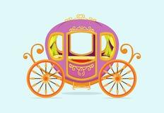 Illustration of princess Carriage cartoon Stock Image