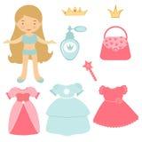 Princess paper doll Stock Photos