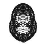 Illustration principale de vecteur de gorille dans le style de cru illustration de vecteur