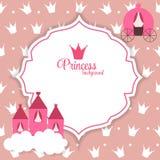 Illustration Prinzessin-Abstract Background Vector Stockfoto