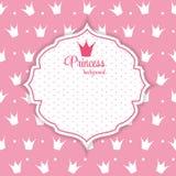 Illustration Prinzessin-Crown Background Vector. Stockbild