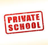 Private school text buffered on white background. Illustration of private school text buffered on white background Stock Images