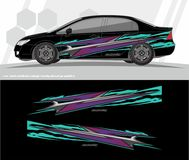 Car and vehicles wrap decal Graphics Kit designs. ready to print and cut for vinyl stickers. vector illustration