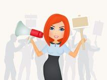 Illustration of Protest demonstration. Illustration of woman for protest demonstration Stock Images