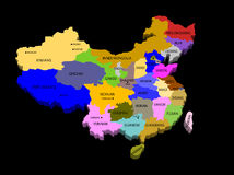 Illustration of the provinces of china Royalty Free Stock Photography