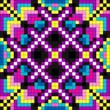 Illustration psychédélique colorée de vecteur de fond de pixel Photographie stock libre de droits