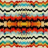 Illustration psychédélique colorée de vecteur de fond de pixel Images stock