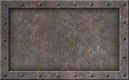 Illustration punk du cadre 3d de vieille vapeur en métal images libres de droits