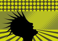 Illustration of punk person. Illustration of punk clubbing, punk, person shouting; vector Royalty Free Stock Images