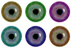 Illustration of the pupil of  eye Royalty Free Stock Photo