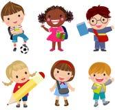 Pupils boys and girls Stock Photos